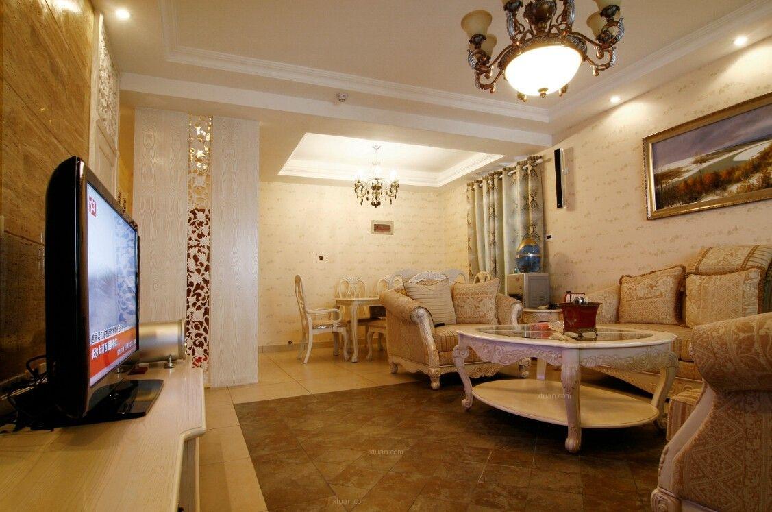 两居室美式风格客厅_橡树林【北美风格】装修效果图