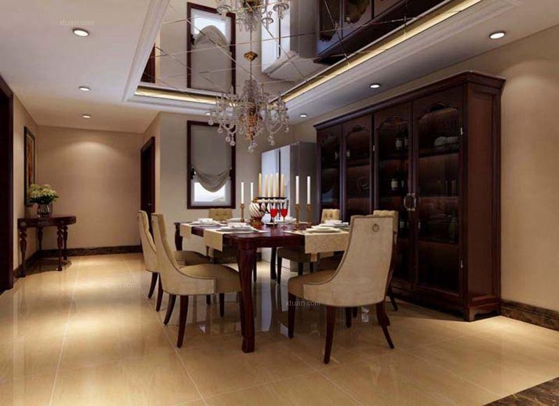 北京实创装饰金色漫香苑180平四居简欧设计装修效果图方案
