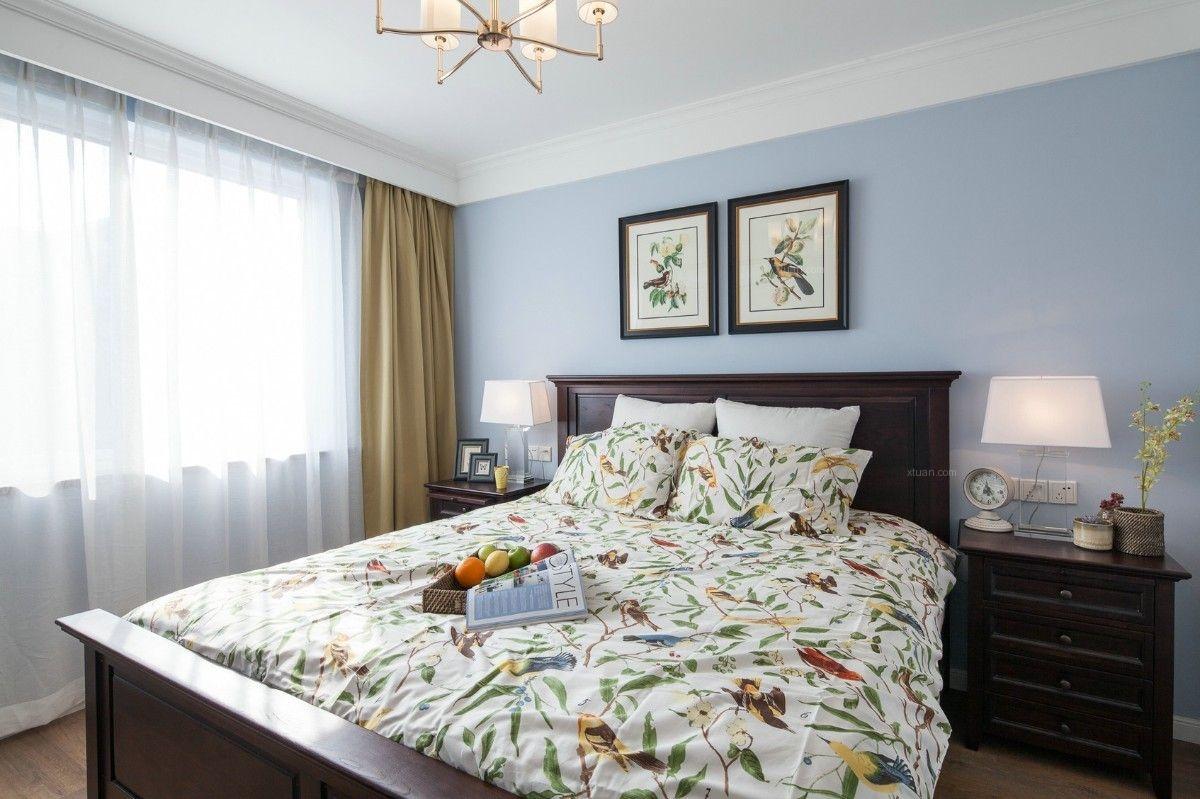 两居室美式风格卧室图片