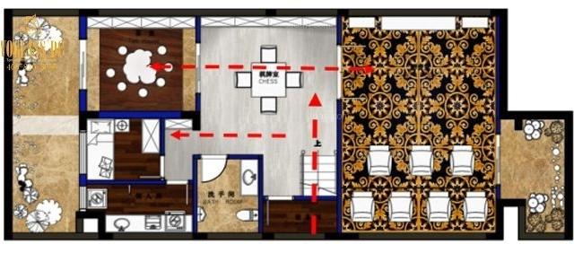 卡尔顿庄园别墅装饰装修设计效果图(武汉尚层装饰)