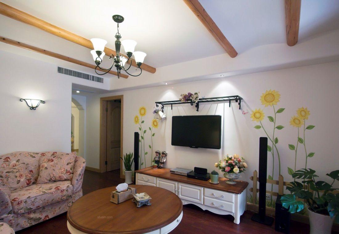 四居室田园风格客厅