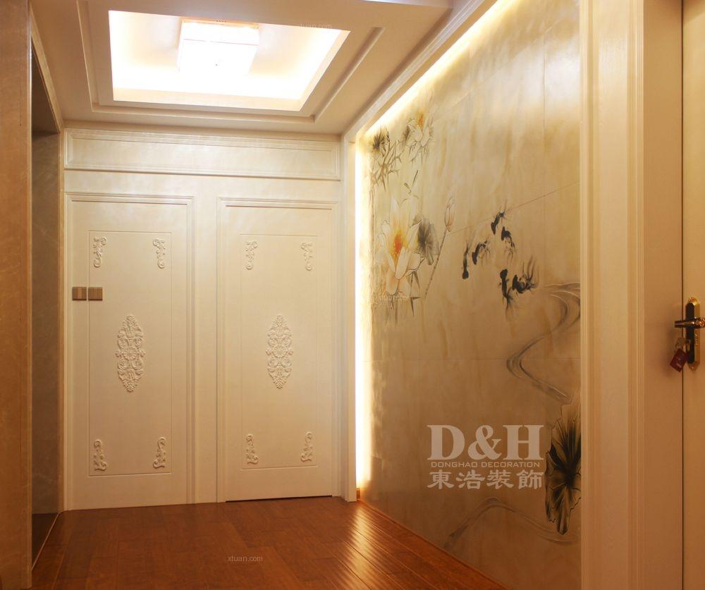 别墅欧式风格过道电视背景墙