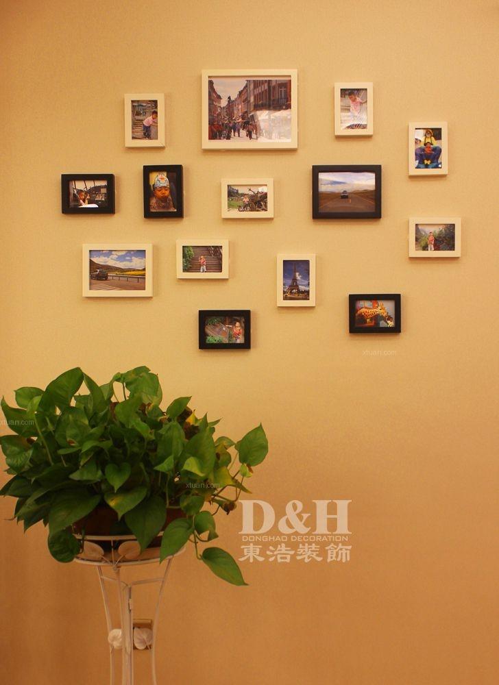 别墅欧式风格过道卧室背景墙