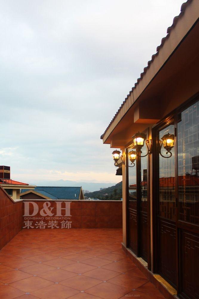 别墅欧式风格餐厅入户花园