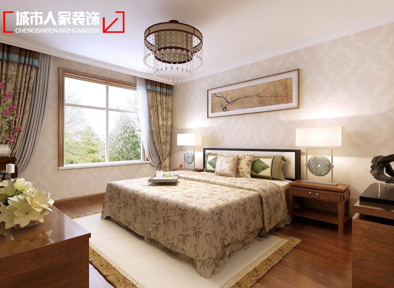 两室一厅中式风格卧室墙绘图片