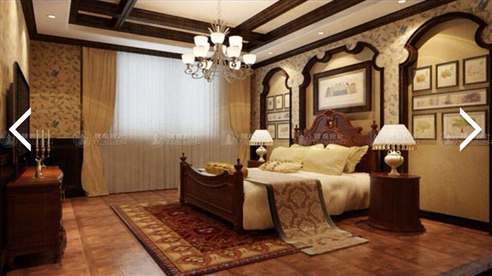 长泰东郊御园别墅装修美式风格设计方案