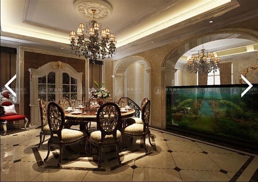 别墅北欧风格餐厅_恒荣府邸别墅法式风格设计装修效果图片