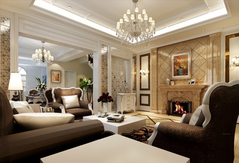 别墅欧式风格客厅_金沙御墅别墅欧式新古典风格设计图