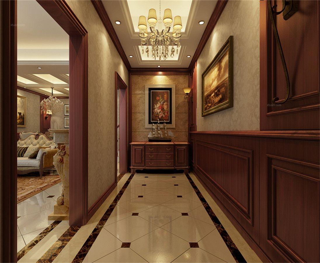 风格美式别墅户型港湾玄关誉花园别墅图图片