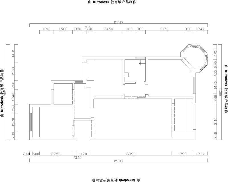 中铁华胥美邦110平三居室温馨淡雅空间设计