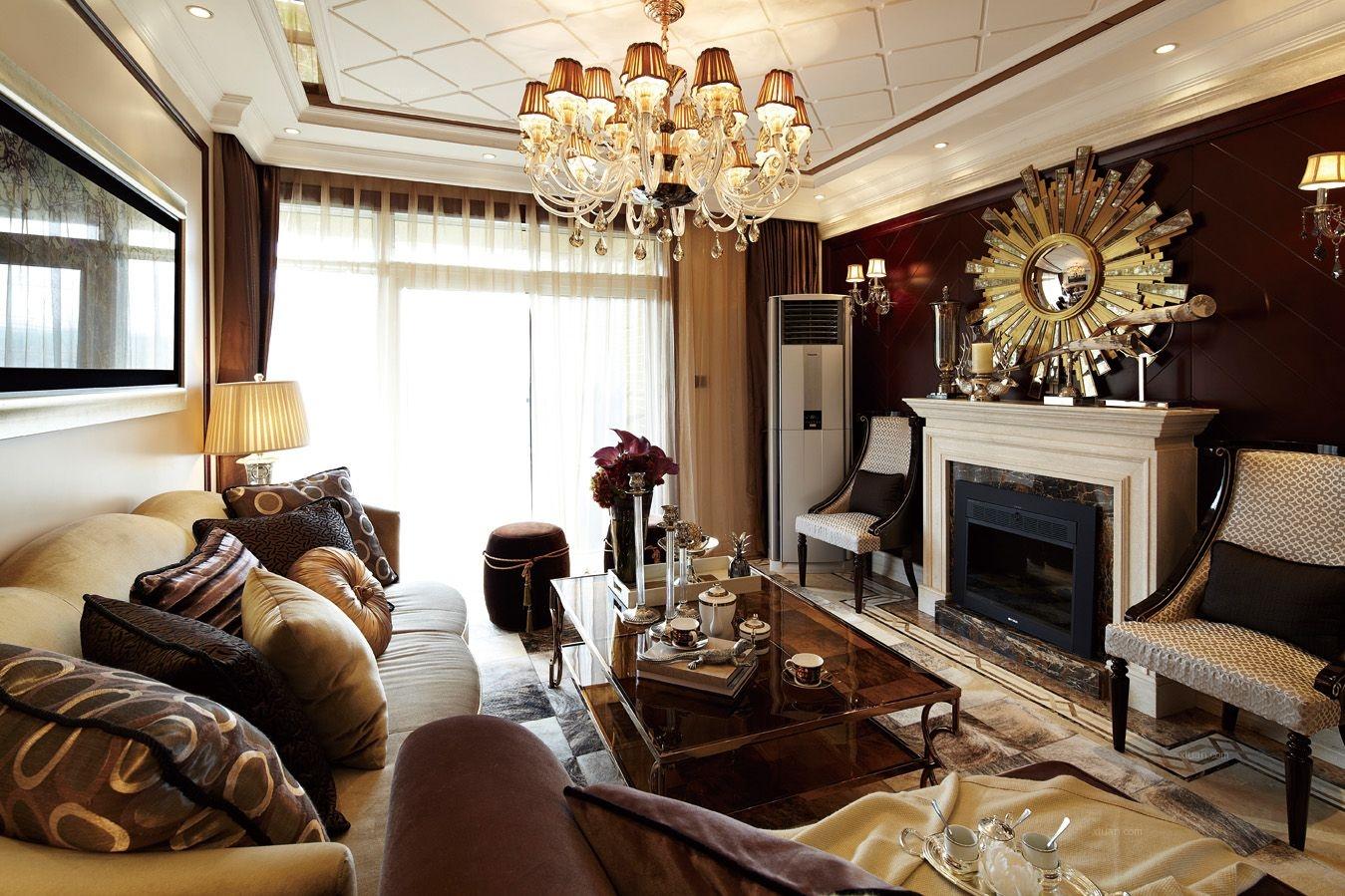 别墅欧式风格客厅软装