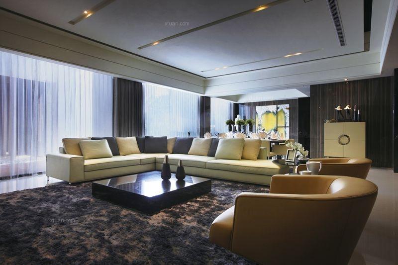 三居室简欧风格客厅
