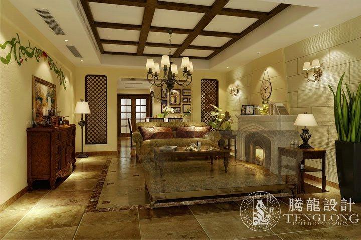 绿地香颂别墅户型装修美式风格设计方案