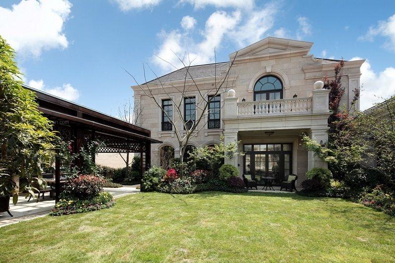 别墅法式风格花园_鹭岛国际装修效果图-x团装修网