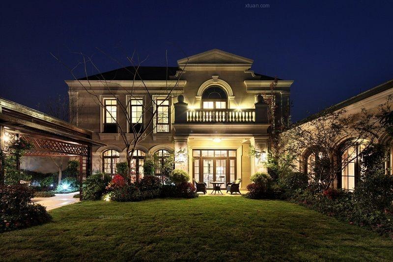 别墅法式风格花园_鹭岛国际装修效果图