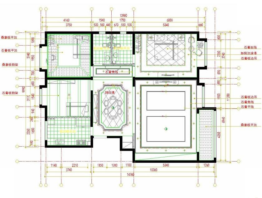 四居室古典风格休闲区