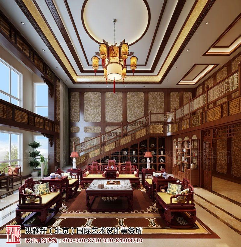 中式风格餐饮空间_内蒙通辽复式住宅古典中式风格图片