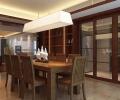 华远海蓝城-三居室-现代中式风格