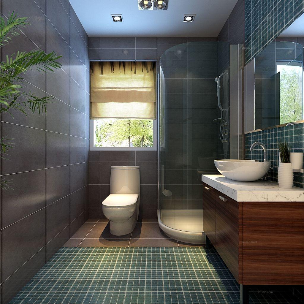 三居室中式风格卫生间_银城林茵里115平简约中士风格图片
