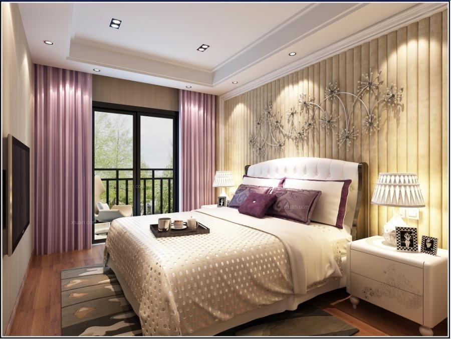 复式楼中式风格小卧室_格林兰亭洋房装修效果图图片
