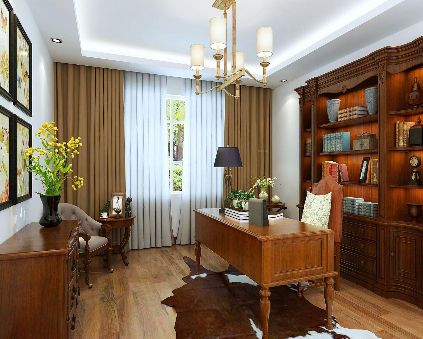 两居室欧式风格书房图片