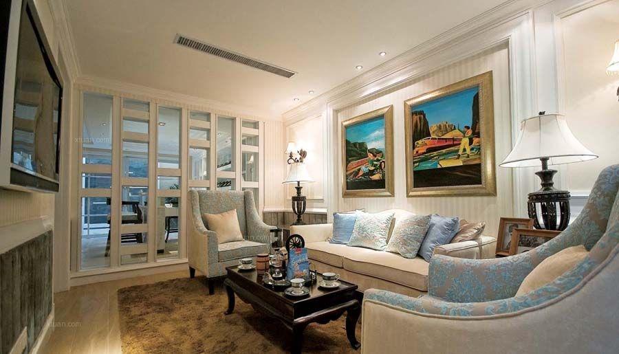 大户型地中海风格客厅