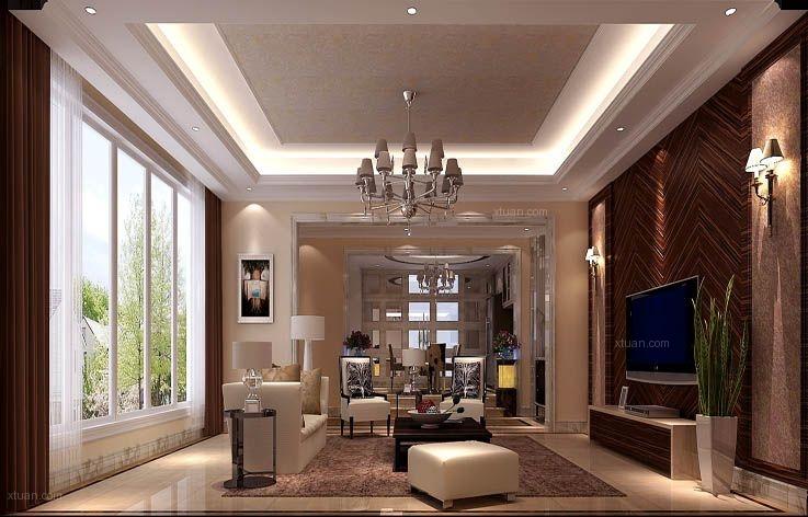 领秀新硅谷380㎡简欧风格别墅设计