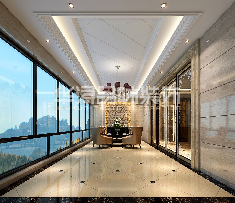 三室两厅欧式风格过道