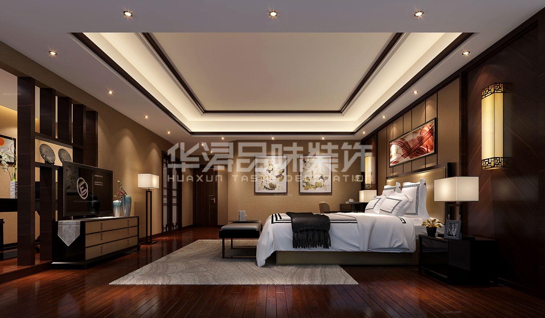 三室两厅中式风格卧室_御景城装修效果图-x团装修网图片