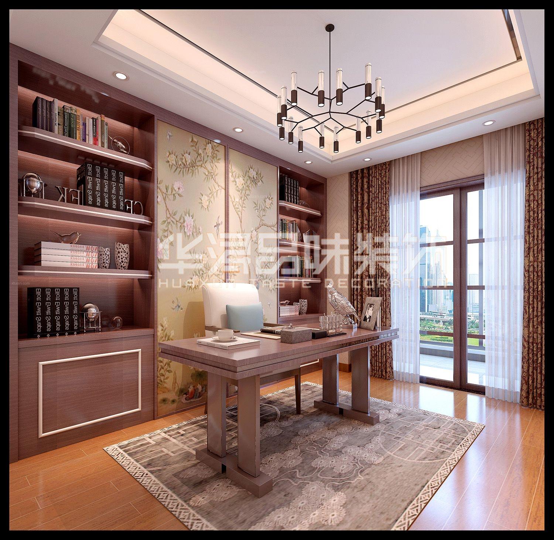 三室两厅中式风格书房_富逸时代装修效果图-x团装修网