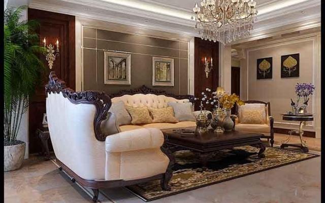 远洋和平府145㎡美式大宅室内设计 大户型装修设计