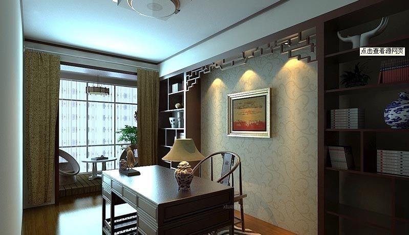 24城装饰-保利花园-三居室-现代中式