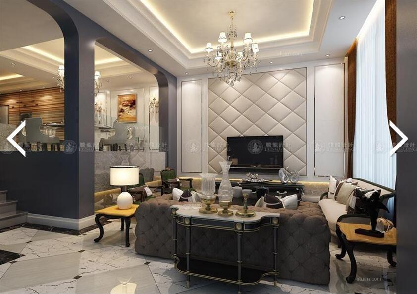 别墅地中海风格客厅