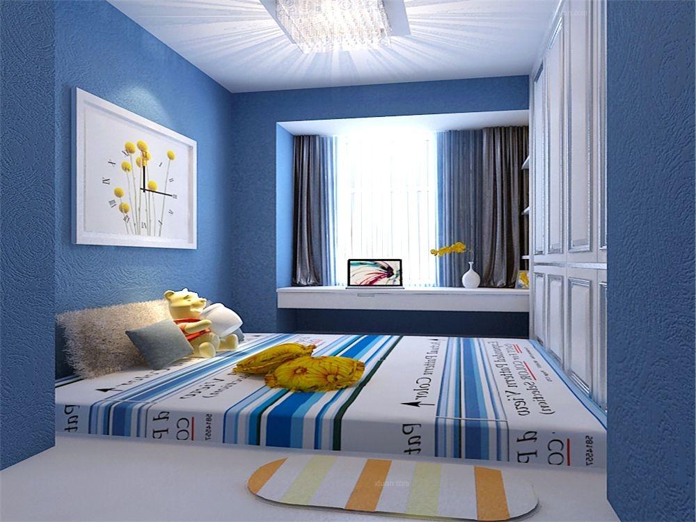 两室两厅简欧风格小卧室_碧桂园89㎡-简欧风格装修图