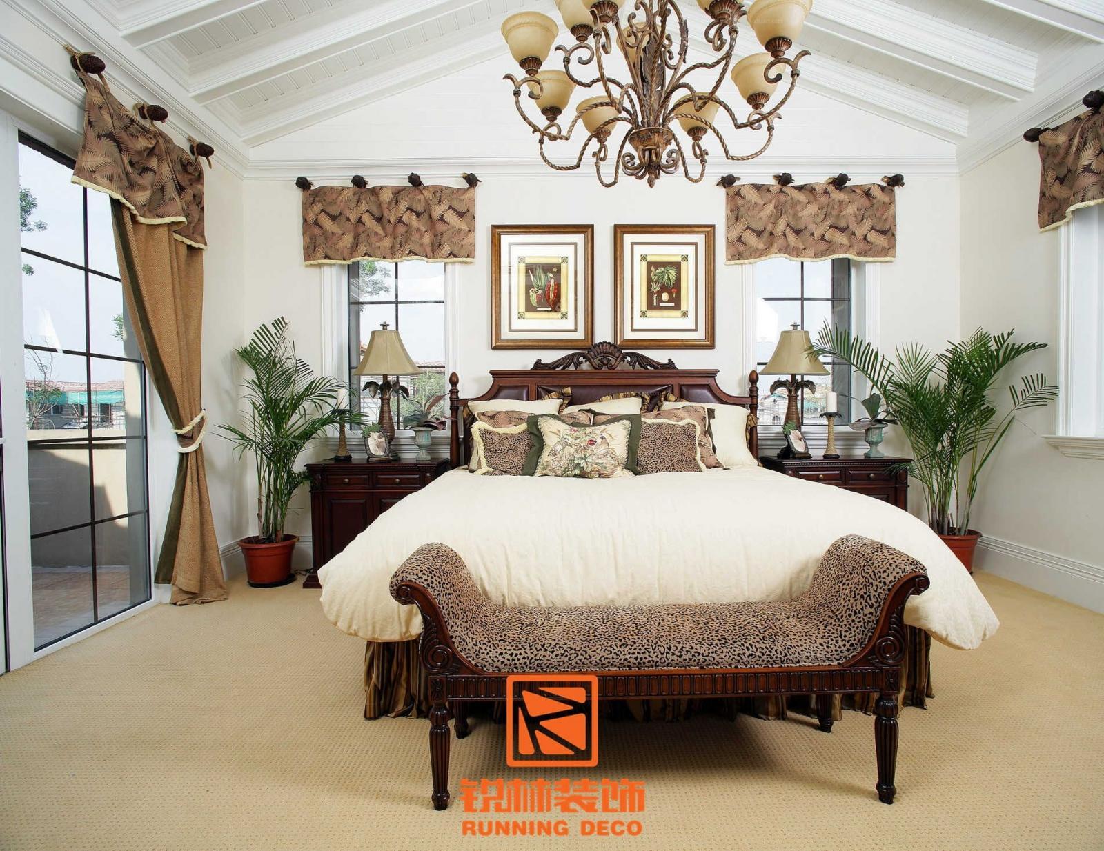别墅美式风格卧室软装图片