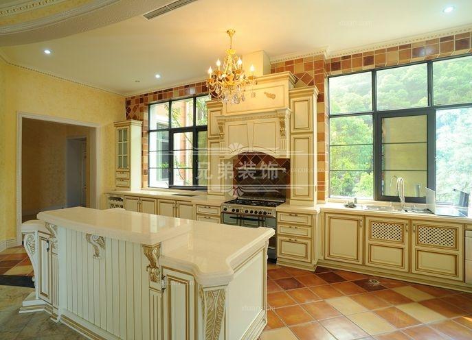 别墅法式风格厨房开放式厨房图片