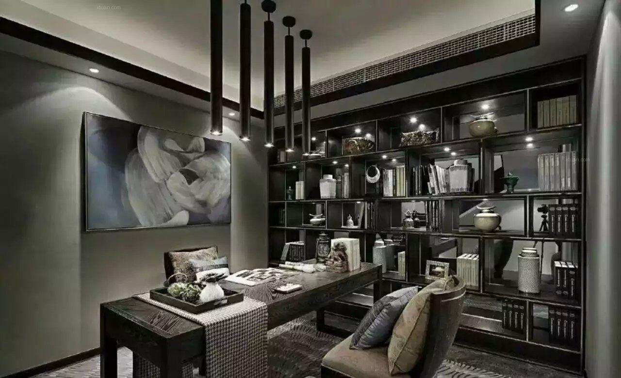 联排别墅新古典餐厅_港式风格装修效果图-x团装修网图片
