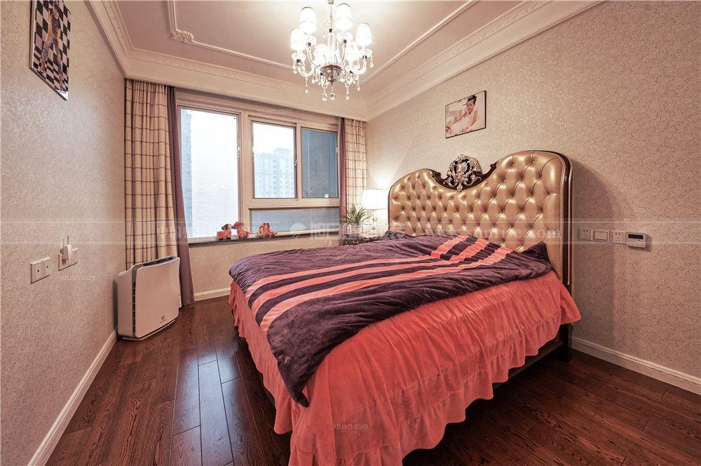 四居室古典风格卧室_复地悦城-欧式古典风格装修效果图