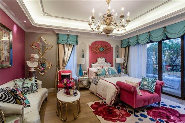 别墅欧式风格儿童房卧室背景墙_红磡领世郡-欧式装修