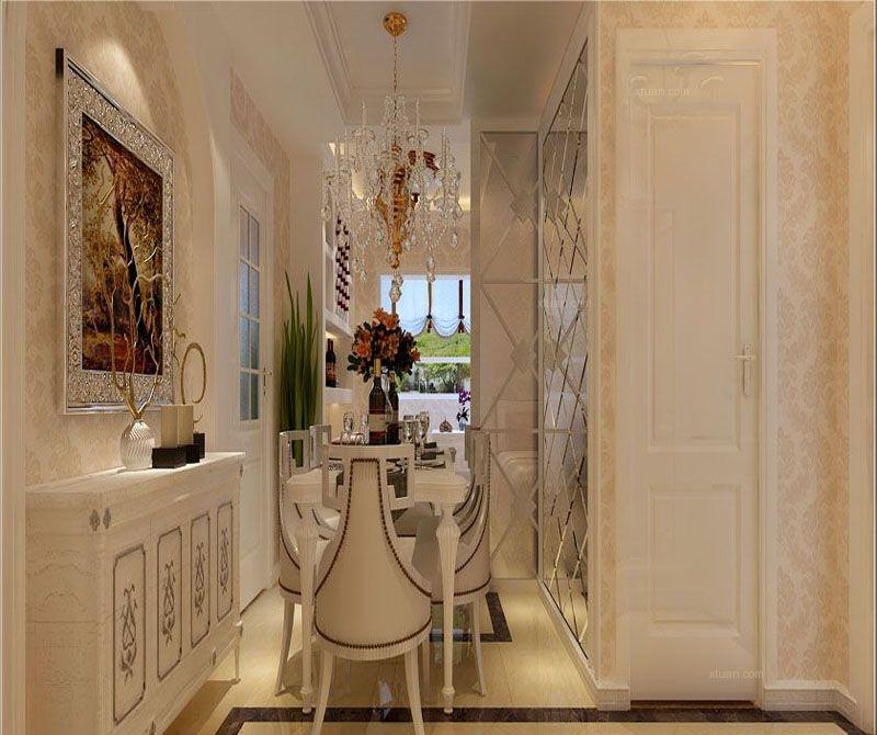三居室欧式风格餐厅照片墙