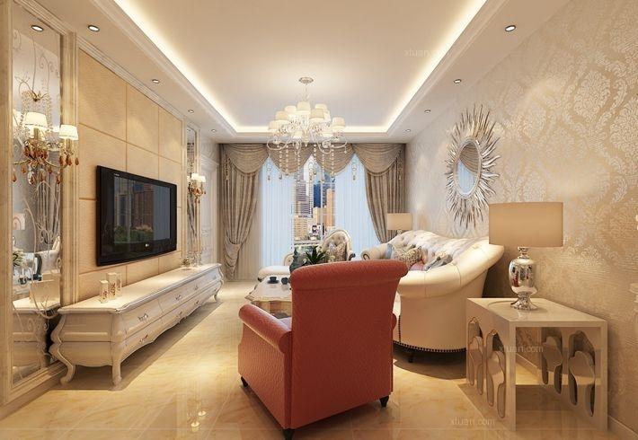 万象上东使用70平米简欧风格-哈尔滨麻雀装饰公司