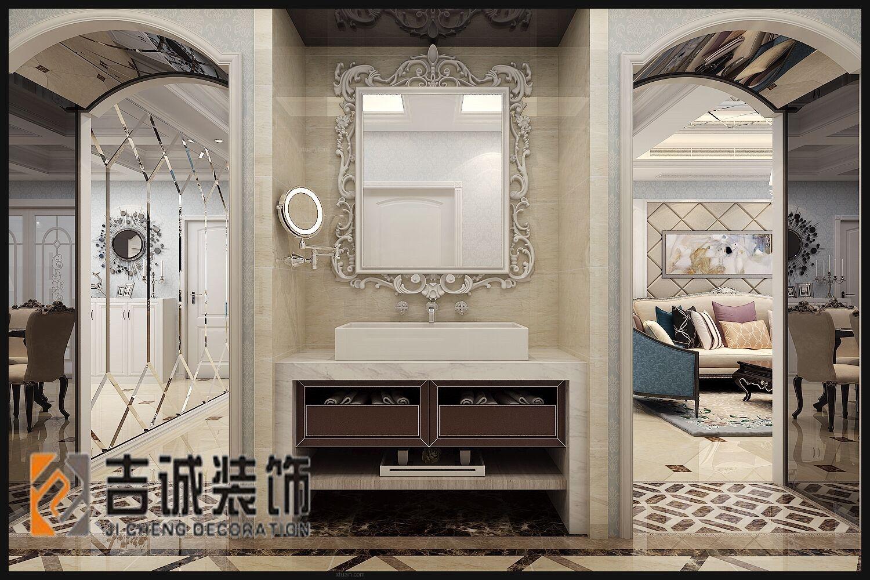 三居室欧式风格洗手间