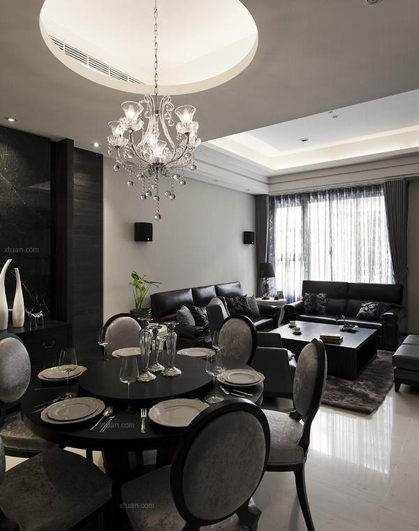 四居室现代风格客厅沙发背景墙