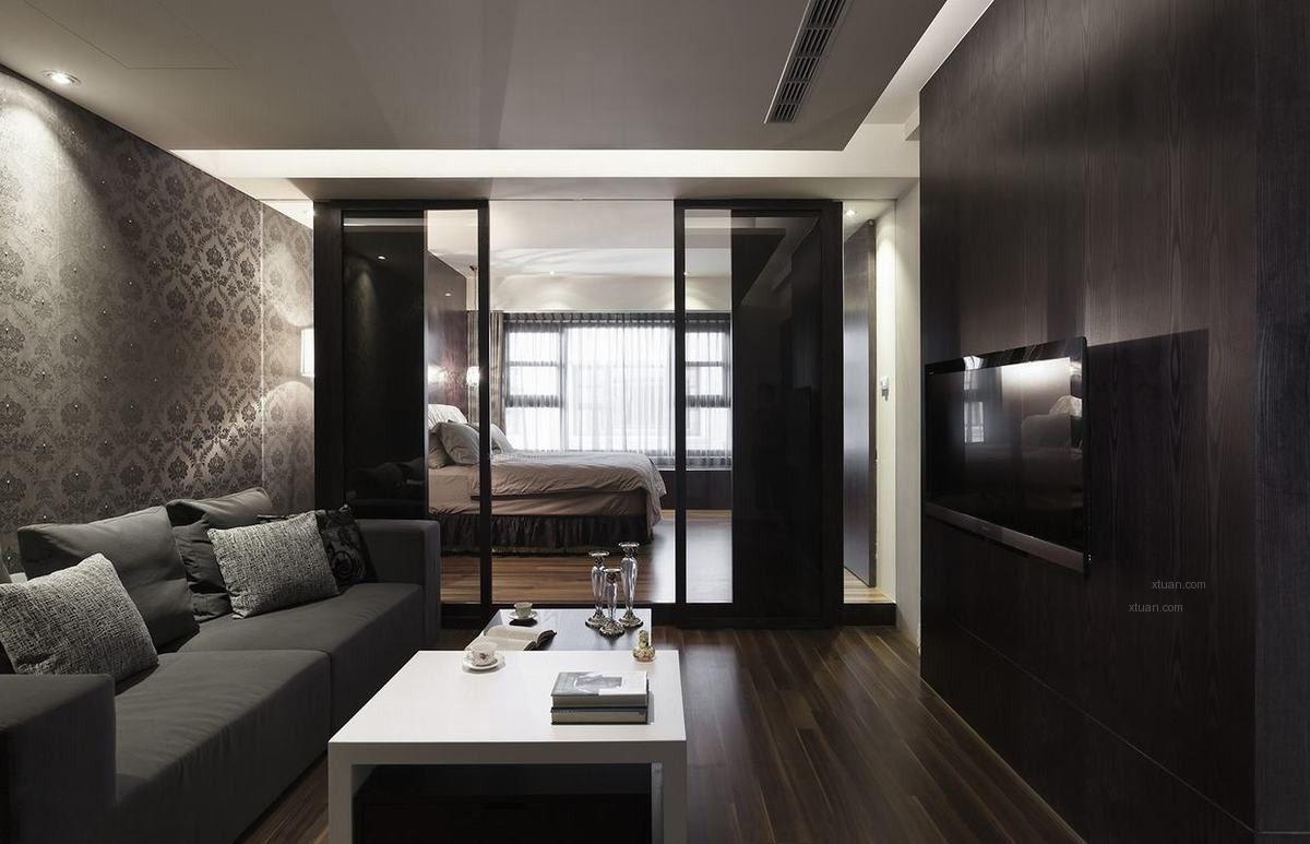 【西安实创装饰】黑色质感现代风格大宅