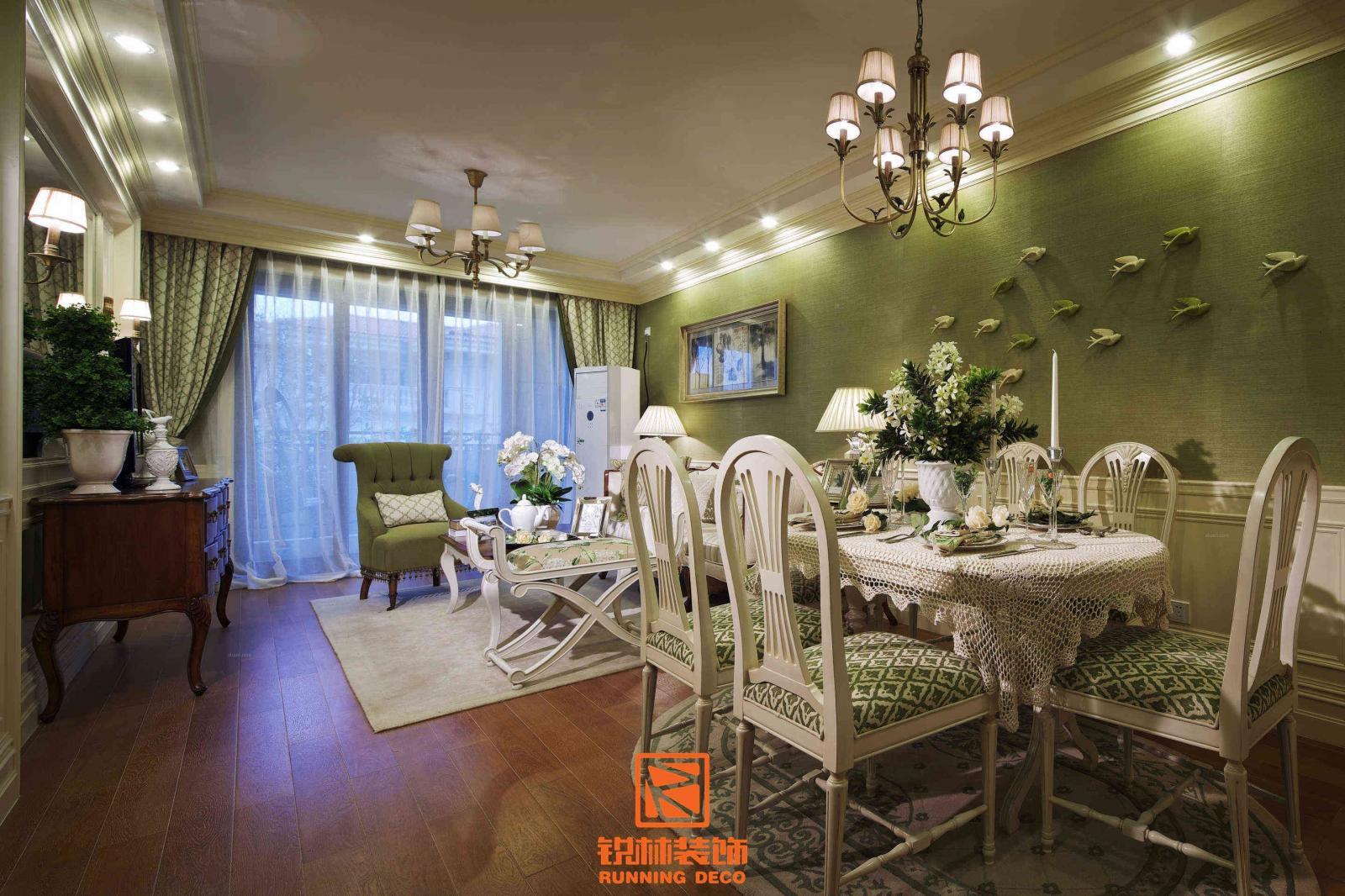 别墅法式风格餐厅软装图片
