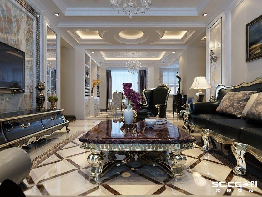 兰州三居室简欧风格装修设计