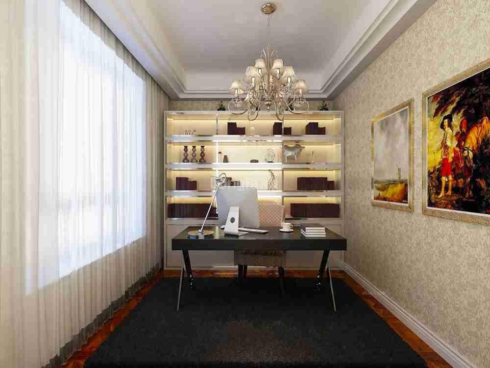 复式楼欧式风格书房图片