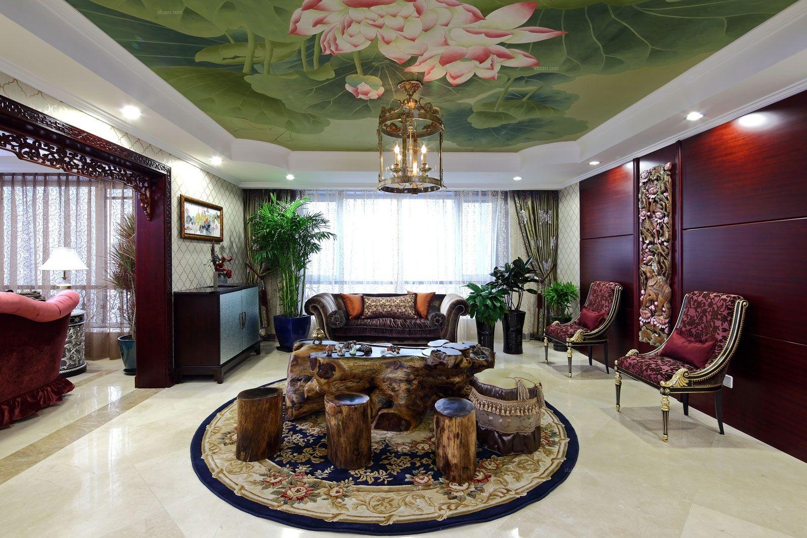 四居室中式风格休闲区软装