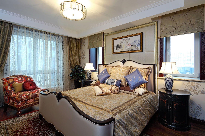 四居室中式风格卧室软装