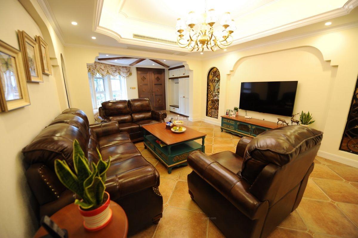 老洋房美式风格客厅软装图片